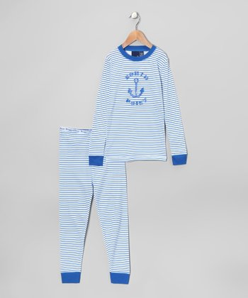 Blue Stripe Pajama Set - Boys