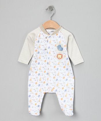 Beige Zoo Footie - Infant