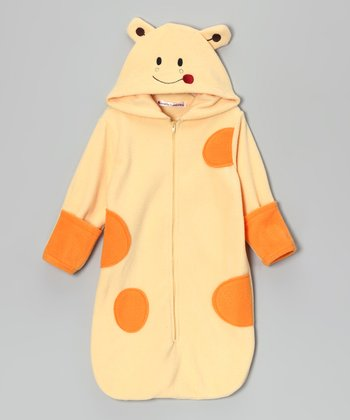 Yellow & Orange Giraffe Hooded Bunting Bag - Infant