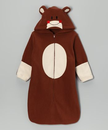 Brown Monkey Hooded Bunting Bag - Infant