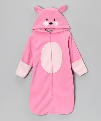 Rumble Tumble Pink Cat Hooded Bunting Bag - Infant