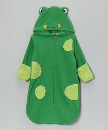 Green Frog Hooded Bunting Bag - Infant