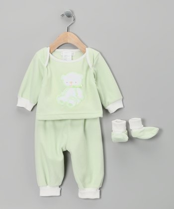 Green Teddy Bear Pajama Set - Infant