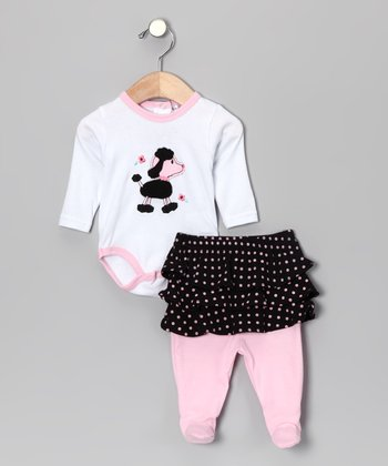 Pink Poodle Bodysuit & Skirted Footie Pants - Infant