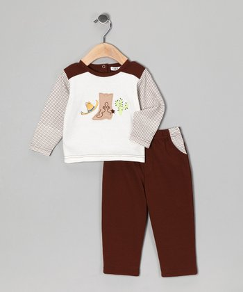 Brown Boot Top & Pants - Infant