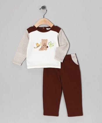 Rumble Tumble Brown Boot Top & Pants - Infant