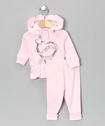Pink Heart Hoodie & Pants - Infant