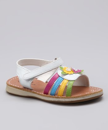 White & Yellow Bloom Sandal