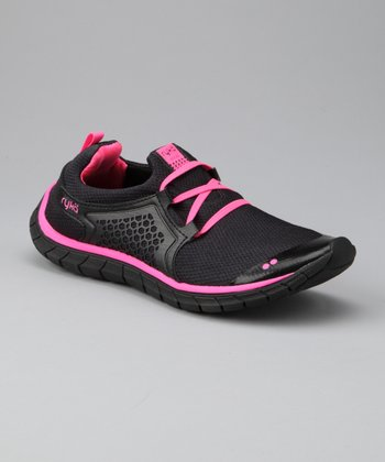 Black & Neon Pink Desire Running Shoe