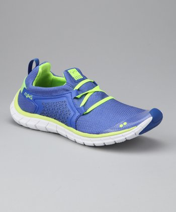 Lime Green & Coastal Blue Desire Sneaker - Women