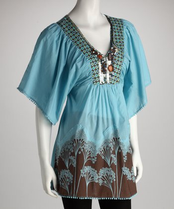 Sky Blue Ornate Tunic