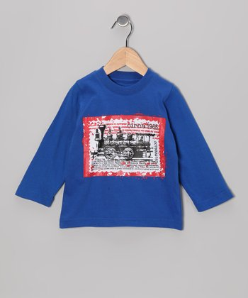Royal Blue Train Long-Sleeve Tee - Infant, Toddler & Boys