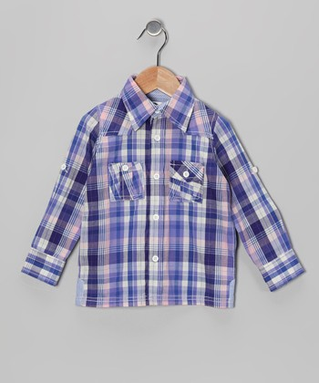 Purple Plaid Western Button-Up - Infant, Toddler & Boys