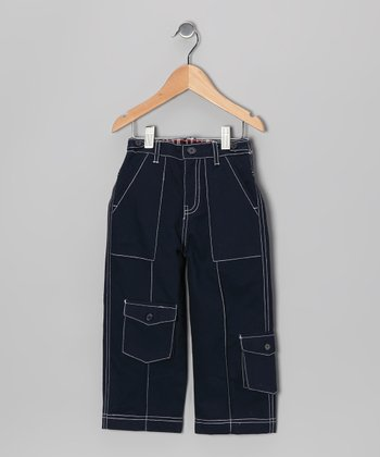 Navy Twill Cargo Pants - Infant, Toddler & Boys