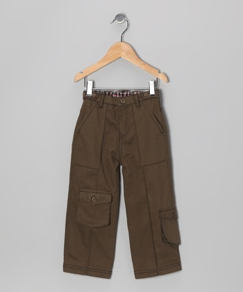 Turf Green Twill Cargo Pants - Infant, Toddler & Boys