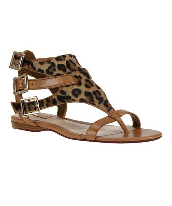 Natural Leopard Sandal