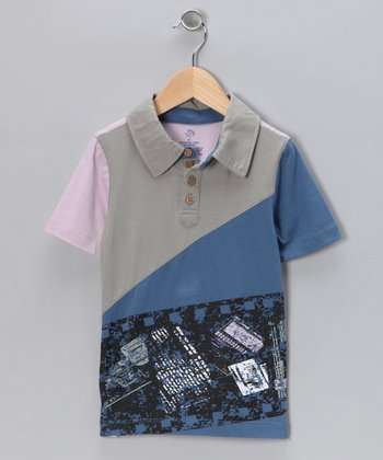 Blue & Purple Polo - Toddler
