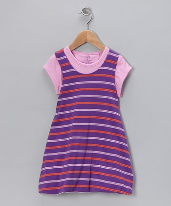Pink & Purple Reversible Dress - Infant & Toddler