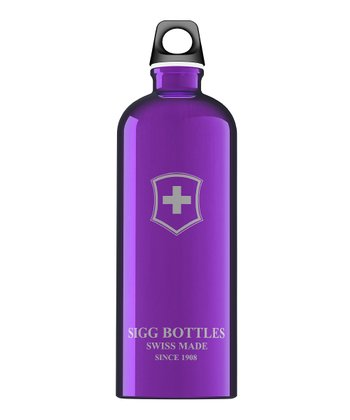 Dark Violet Swiss Emblem 33.8-Oz. Water Bottle