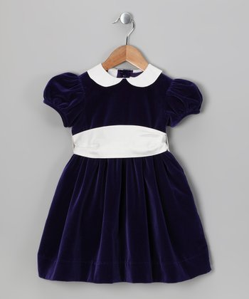 Purple Sash Dress - Infant, Toddler & Girls
