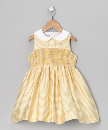 Yellow Silk Smocked Dress - Infant & Toddler