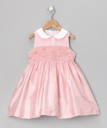 Pink Silk Smocked Dress - Infant & Girls