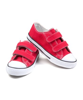 Red Double-Strap Sneaker