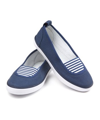 Navy Canvas Slip-On Shoe
