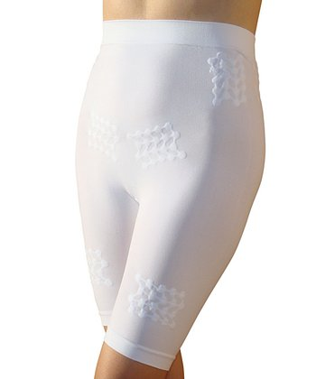 White High-Waisted Slimming Shaper Shorts