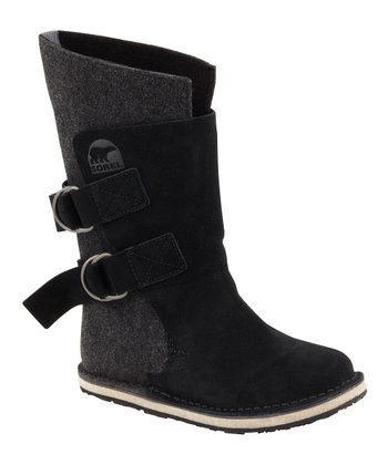 Black Chipahko Felt Boot