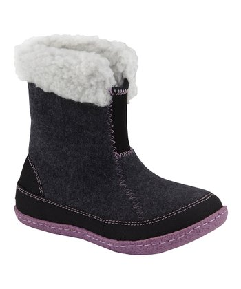 Coal & Black Cozy Bou Boot