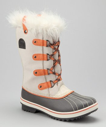 Winter White & Bright Peach Tofino Boot