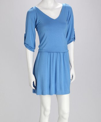 Blue Dolman Dress