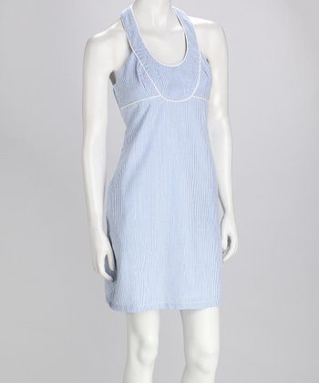 Blue & White Racerback Sundress
