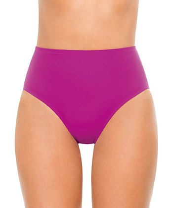 Full-Coverage Bikini Bottoms - Berry