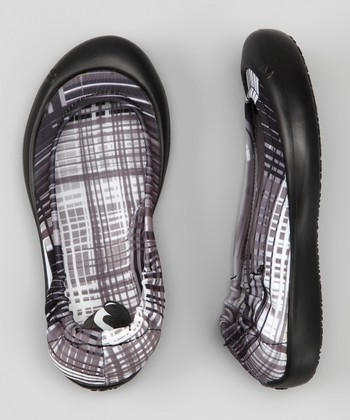 Black Scratch Plaid Ballet Flat