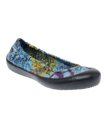Black Berlin Wall Ballet Flat