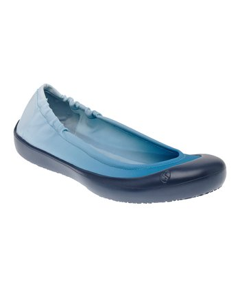 Denim Blue Ombré Ballet Flat