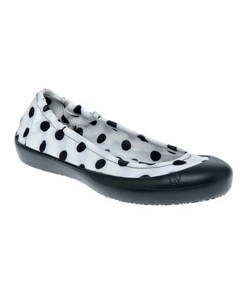 Black & White Polka Dot Ballet Flat