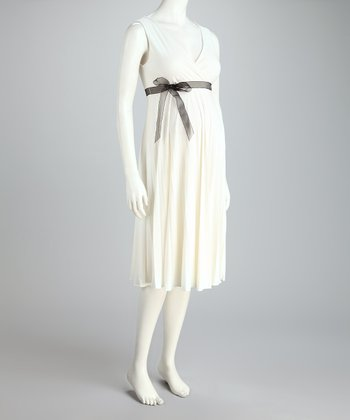 Ivory Sunray Maternity Dress