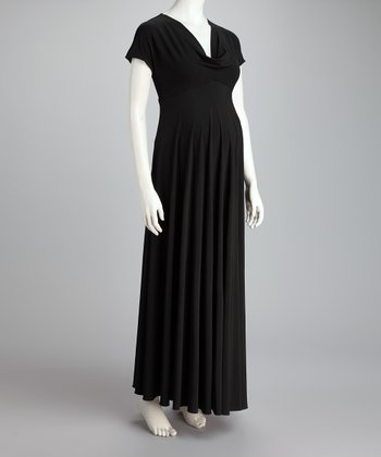 Black Pippa Maternity Maxi Dress