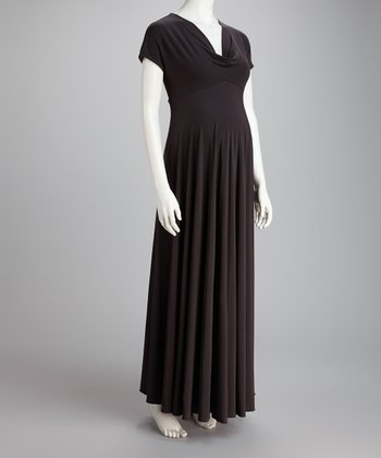 Charcoal Pippa Maternity Maxi Dress