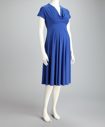 Aviator Blue Pippa Maternity Dress