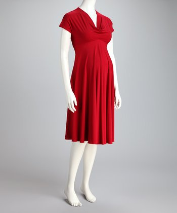 Red Pippa Maternity Dress