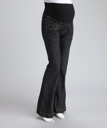 Dark Denim Over-Belly Maternity Trouser Jeans