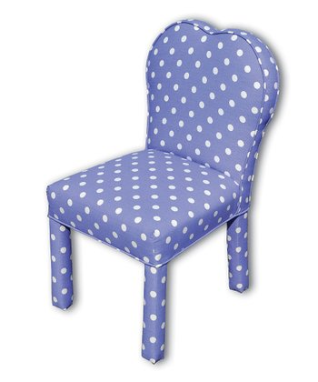 Purple & White Lily Heart Parson Chair