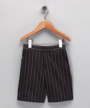 Gray Stripe Shorts - Infant, Toddler & Boys