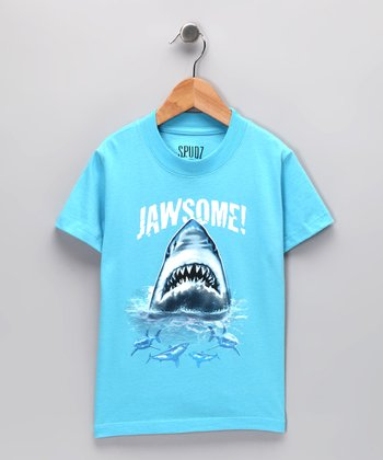 Light Blue 'Jawsome' Tee - Infant