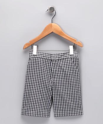 Black Plaid Shorts - Infant & Toddler