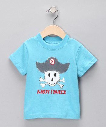 Turquoise 'Ahoy! Mate' Tee - Infant & Toddler